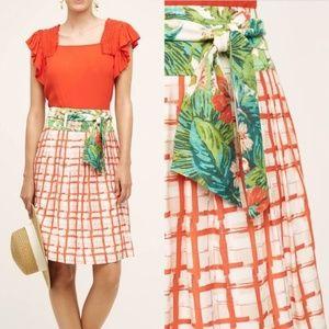 Anthropologie Maeve County Fair Skirt Size 8